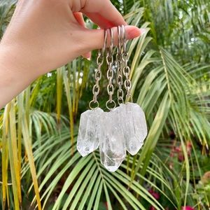 Brazilian Quartz Crystal Key Chain
